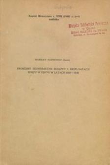Problemy ekonomiczne budowy i eksploatacji portu w Gdyni w latach 1920-1939