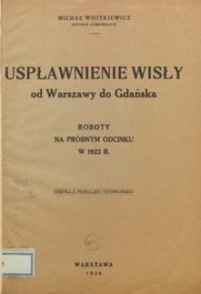 Uspławnienie Wisły od Warszawy do Gdańska : roboty na próbnym odcinku w 1923 r.
