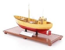 Model kutra rybackiego drewnianego K-160