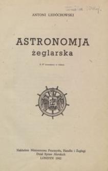 Astronomja żeglarska : z 37 rysunkami w tekście