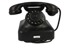 Telefon czarny