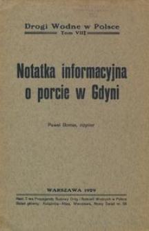 Notatka informacyjna o porcie w Gdyni