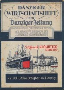 Danziger Wirtschaftsheft der Danziger Zeitung, 1929, nr 3