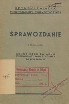 Sprawozdanie z działalności Gdyńskiego Związku Propagandy Turystycznej za rok 1936/1937