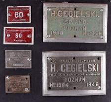 Tabliczki z oznakowaniem parowozów