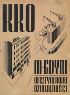 Sprawozdanie Komunalnej Kasy Oszczędności Miasta Gdyni za czas od 1 stycznia do 31 grudnia 1937 roku