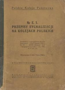 Przepisy sygnalizacji na kolejach polskich Nr E. 1.