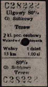 Bilet kolejowy C 28222