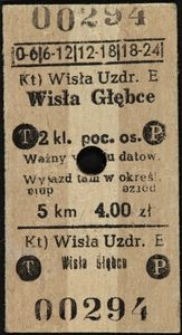 Bilet kolejowy 00294
