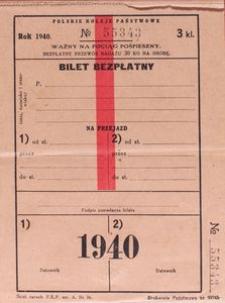 Książeczka biletowa P. K. P. Nr 55343