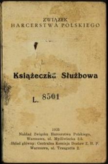 Książeczka Służbowa L. 8501