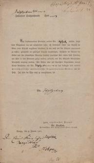Korespondencja władz miejskich dotycząca sytuacji politcznej Słupska w latach 1806-1807 [Rękopis]