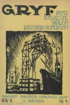 Gryf : pismo poświęcone sprawom kaszubsko-pomorskim, 1931, nr 1