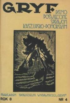 Gryf : pismo poświęcone sprawom kaszubsko-pomorskim, 1932, nr 4