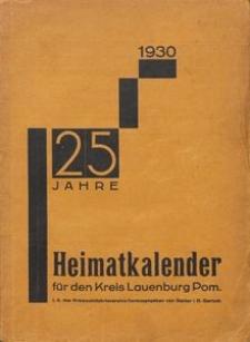 Heimatkalender für den Kreis Lauenburg Pom. 1930