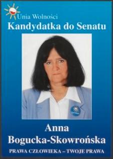 Plakat wyborczy - Kandydatka do Senatu Anna Bogucka-Skowrońska