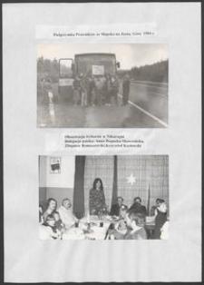Kartka z albumu - Pielgrzymka prawników ze Słupska na Jasną Górę 1984 r. oraz Obserwacja wyborów w Nikaragui, delegacja polska - Anna Bogucka-Skowrońska, Zbigniew Romaszewski, Krzysztof Kozłowski