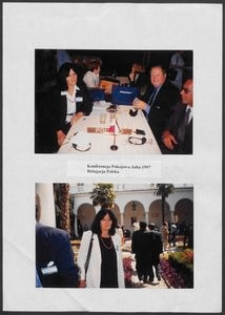 Kartka z albumu - Konferencja Pokojowa, Jałta 1997 r. Delegacja polska