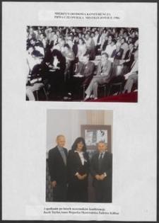 Kartka z albumu - Międzynarodowa Konferencja Prawa Człowieka, Mistrzejowice 1986 oraz spotkanie po latach uczestników konferencji Anna Bogucka-Skowrońska, Jacek Taylor, Tadeusz Killian