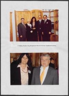 Kartka z albumu - Anna Bogucka-Skowrońska z Aliną Pieńkowską, Bogdanem Borusewiczem i Janem Królem