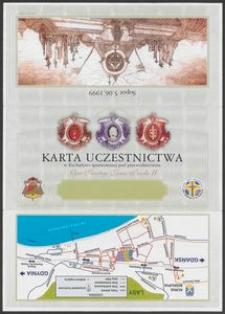 Karta Uczestnictwa w Eucharystii sprawowanej pod przewodnictwem Ojca Świętego Jana Pawła II
