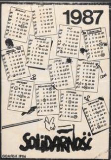 Solidarność 1987 - kalendarz