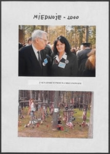 Kartka z albumu - Miednoje 2000, Anna Bogucka-Skowrońska z Senatorem prof. W. Chrzanowskim
