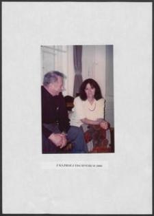 Kartka z albumu - Anna Bogucka-Skowrońska z księdziem prof. J. Tischnerem