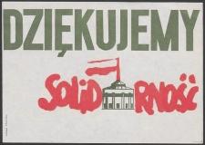 Dziękujemy Solidarność - ulotka