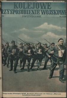 Kolejowe Przysposobienie Wojskowe, 1936, nr14 (90)
