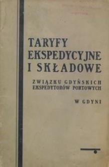 Taryfy ekspedycyjne Związku Gdyńskich Ekspedytorów Portowych w Gdyni : obowiązujące od dnia 1 lipca 1936 r.