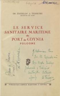 Le service sanitaire maritime du port de Gdynia Pologne