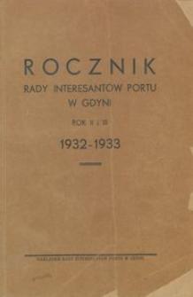 Rocznik Rady Interesantów Portu w Gdyni : 1932-1933