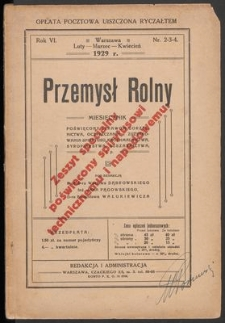 Przemysł Rolny, 1929, nr 2-3-4