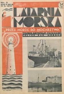 """Latarnia Morska : """"przez morze do mocarstwa"""", 1934, nr 3"""