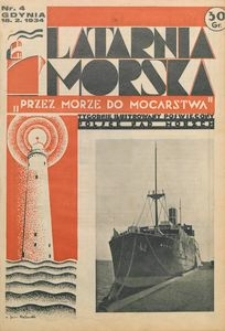 """Latarnia Morska : """"przez morze do mocarstwa"""", 1934, nr 4"""