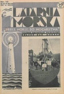 """Latarnia Morska : """"przez morze do mocarstwa"""", 1934, nr 13"""