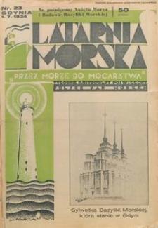"""Latarnia Morska : """"przez morze do mocarstwa"""", 1934, nr 23"""