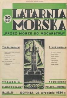 """Latarnia Morska : """"przez morze do mocarstwa"""", 1934, nr 33-34"""