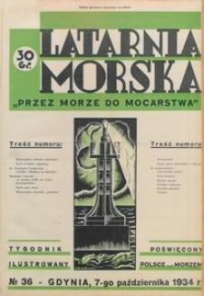 """Latarnia Morska : """"przez morze do mocarstwa"""", 1934, nr 36"""