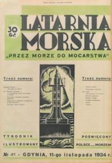 """Latarnia Morska : """"przez morze do mocarstwa"""", 1934, nr 41"""
