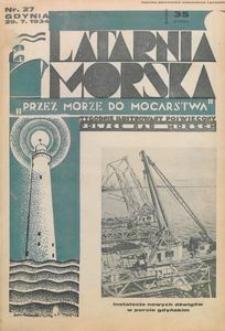 """Latarnia Morska : """"przez morze do mocarstwa"""", 1934, nr 27"""