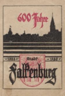 Beiträge zur Geschichte der Stadt Falkenburg. 600 Jahre Stadt Falkenburg 1333-1933