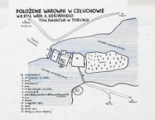 Położenie warowni w Człuchowie w roku 1772 według K. Kościńskiego - Towarzystwo Naukowe w Toruniu
