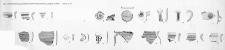 Człuchów - Zamek. Wykop I i II. Zestawienie ceramiki wczesnośredniowiecznej i późniejszej