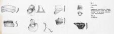 Człuchów. Stanowisko 1. Zestawienie fragmentów ceramiki średniowiecznej z fosy oraz p