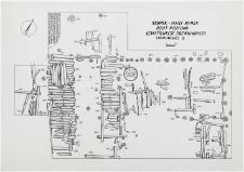 Słupsk - Stary Rynek. Rzut poziomy konstrukcji drewnianych. Stanowisko 3, wyk. I, Ar 20, 26, 27