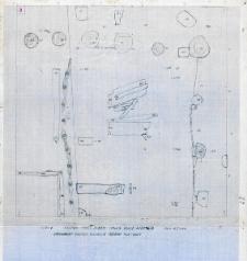 Słupsk - Stary Rynek. Fragment wnętrza budynku 1 - ściana płn. i wsch., Stanowisko 3, wyk. I, Ar 27, Cw B