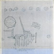 Słupsk - Stary Rynek. Fragment budynku 1 - ściana płn. Rzut poziomy beczki. Stanowisko 3, wyk. I, Ar 27, Aw A