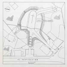 Słupsk - Plan sytuacyjny stanowisk archeologicznych ul. Partyzantów. Wykop II, III, IV